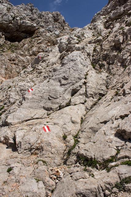 Zweitätige Wanderung im Gesäuse von Gsatterboden zum Buchsteinhaus und weiter über den Südwandband Klettersteig auf den Großen Buchstein - Normalweg Schwierigkeit schwarz