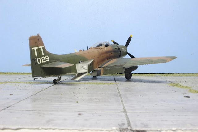 Maquette du A-1J Skyraider de Tamiya au 1/48.