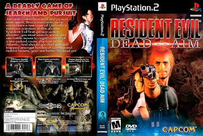 Jogo Resident Evil Dead Aim PS2 DVD Capa