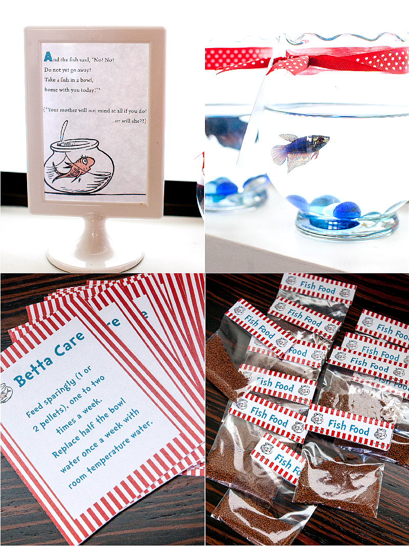 Cat in The Hat Inspired Birthday Party DIY Favors - via BirdsParty.com