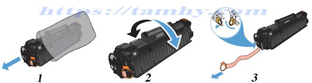 Cách thay Mực máy in Hp M127, M125 (Mực in HP 83A) 3