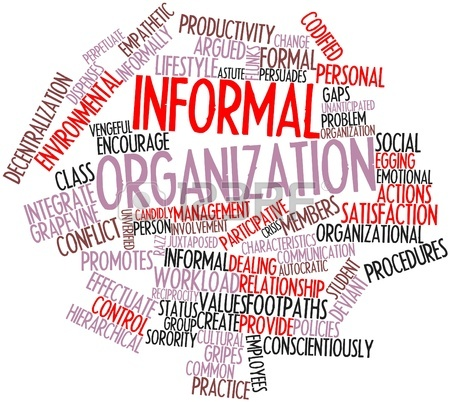 formal and informal organisations The interrelation between the formal and informal organization an analysis of how individuals perceive their roles during an organizational change.