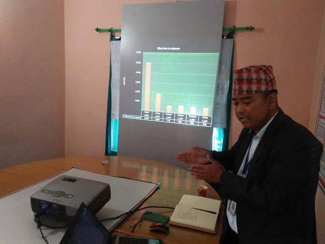 Mr Samsher Thapa of Rapti eye hospital