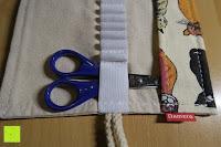Schere: Damero Rollentasche für Gelstift Schreibzubehör gerollter Halter mit Leiwand für Buntstift Reiseorganisator-Beutel für Künstler, Mehrzweck (keine Bleistifte im Lieferumfang enthalten), 48 Löcher, Katzen