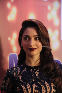 Tamannaah Bhatia Looks Stunning in Black Tight Dress at Launch of Kansai Nerolac new products Pics February 2017
