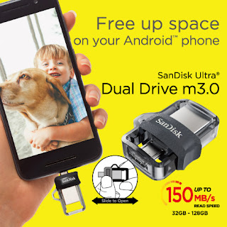 SALE Sandisk SDDD3-032G-G46 OTG Dual Drive 32GB M3.0
