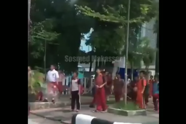 Parahnya #KidsZamanNow, Tawuran Murid SD di Makassar karena Cinta Segitiga