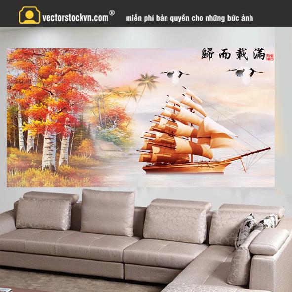 Xưởng in tranh psd tranh tường
