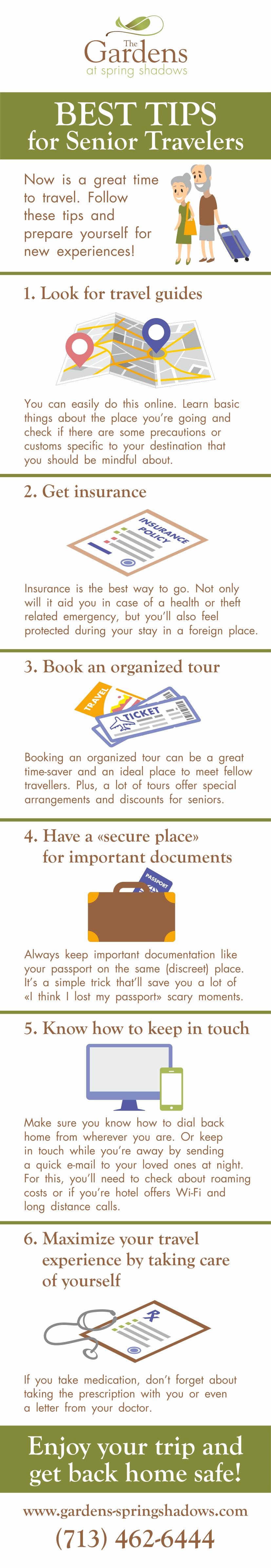 Best Tips For Senior Travelers #infographic
