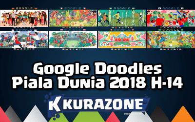 Google Doodles - Piala Dunia 2018 H-14