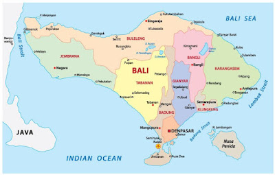 Map of Bali Island, Wonderfull Placed!