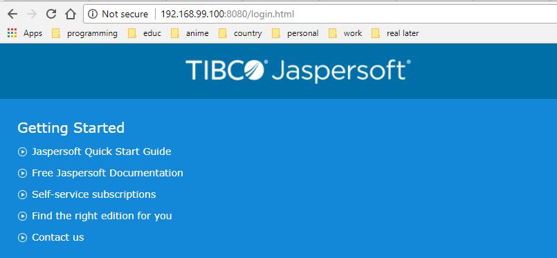 skytechguyver: Jasper Server in Docker