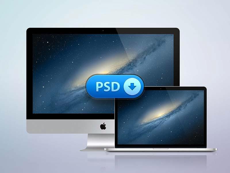 iMac & MacBook Retina Display Mockup