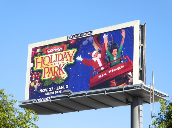Six Flags Holiday Park Santa billboard