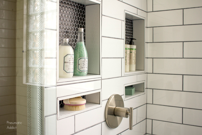 DIY Modern Master Bath Remodel: Part 3: Custom Tile Shower Install .