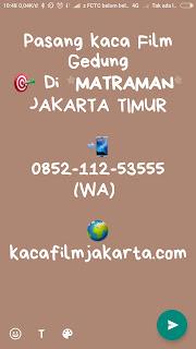 Kaca Film Gedung Ciracas Jakarta Timur