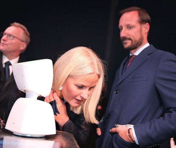 Crown Prince Haakon of Norway and Crown Princess Mette-Marit of Norway attended the opening of Oslo Innovation Week 2016
