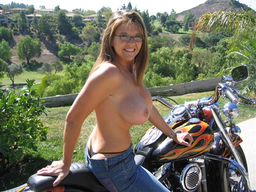 naked wives on motorbikes