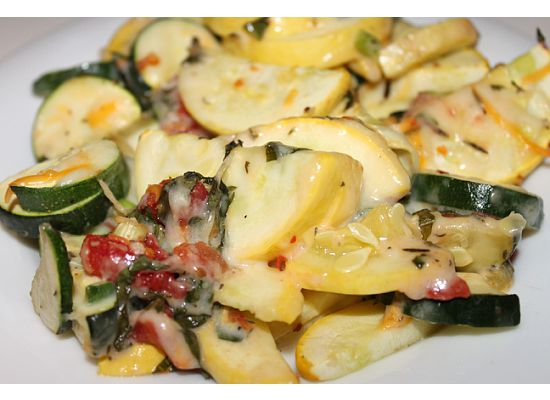 Healthy Cheesy Spicy Zucchini Bake