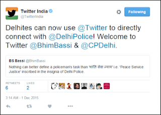 @delhipolice twitter account