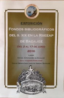 Exposición fondos Bibliográficos del siglo XIX de La Económica de Badajoz
