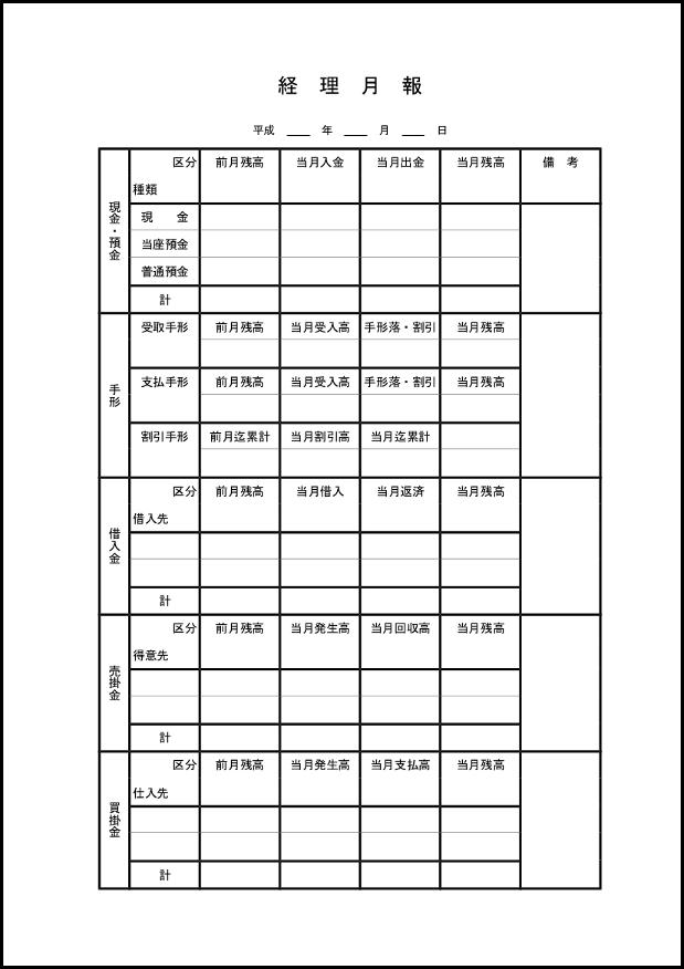 経理月報 002