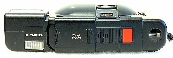 Olympus XA, top