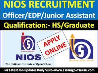 NIOS Recruitment 2019