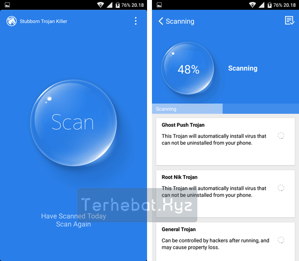 cara menghapus malware di android tanpa pc