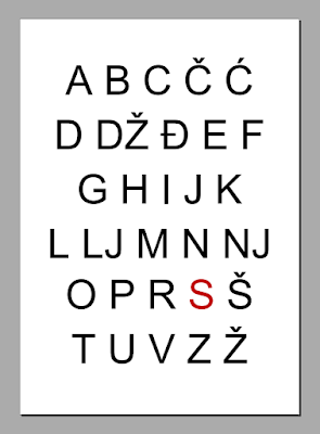 Natpis za dječju sobu - abeceda