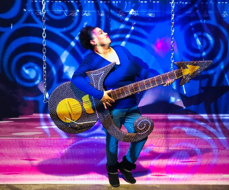 a jellybean Prince guitar