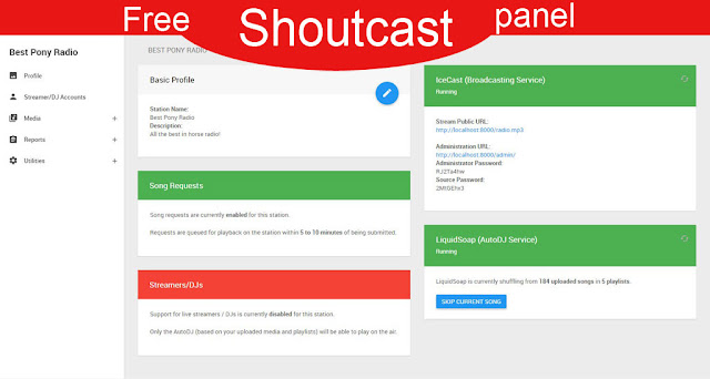 Best free Shoutcast control panel 2018-2019 with autodj and song Requests