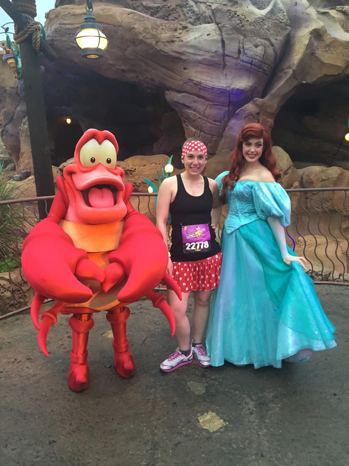 Dopey Challenge Mickey Marathon 2016 Ariel and Sebastian