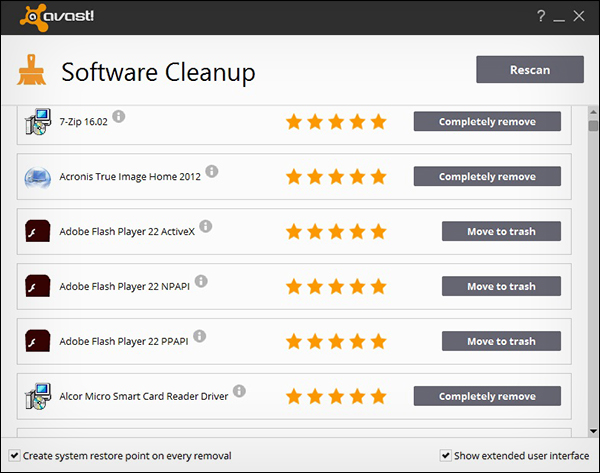 Avast Software Cleanup