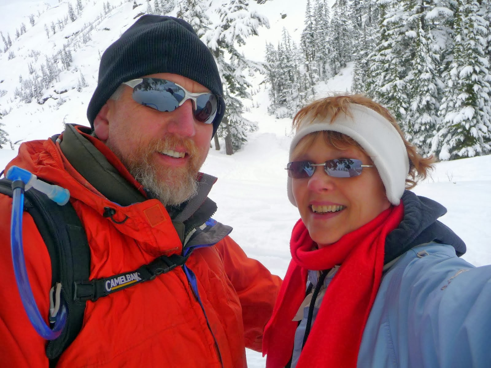 the loveburkes go snowshoeing