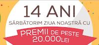Castiga premii de peste 20.000 Lei - concurs - evomag - castiga.net - aniversare