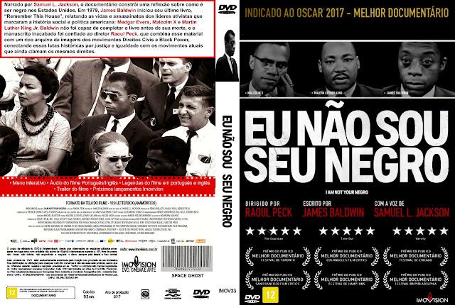 Capa DVD Eu Não Sou Negro