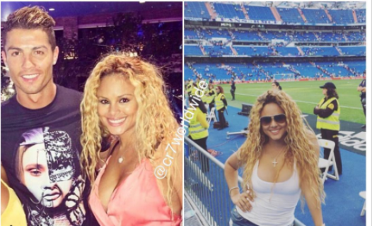 Floyd Mayweather's former love flame chills with Cristiano Ronaldo (photos)