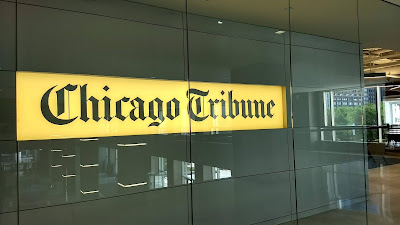 Chicago Tribune new entrance