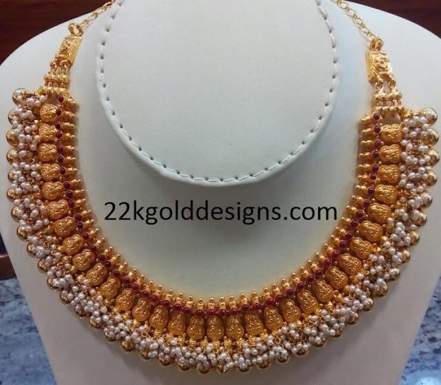 Lakshmi Devi Pearl Choker Necklace