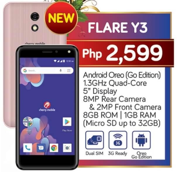 Cherry Mobile Flare Y3 Specs, Price