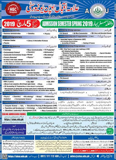 admission in AIOU by PIES