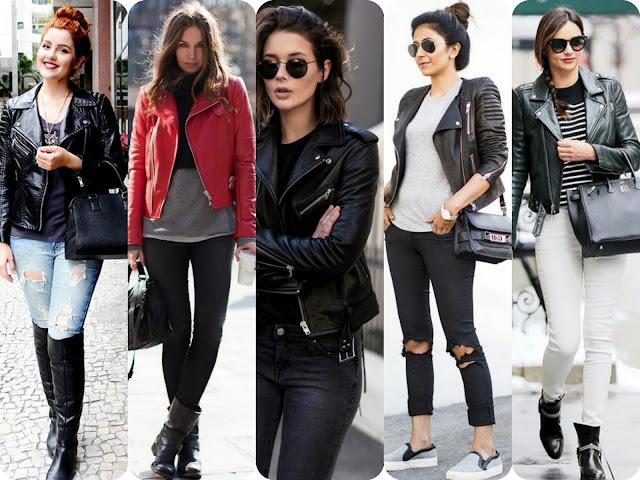 jaquetas; jaquetas de couro; couro sintético; peça que toda mulher tem que ter