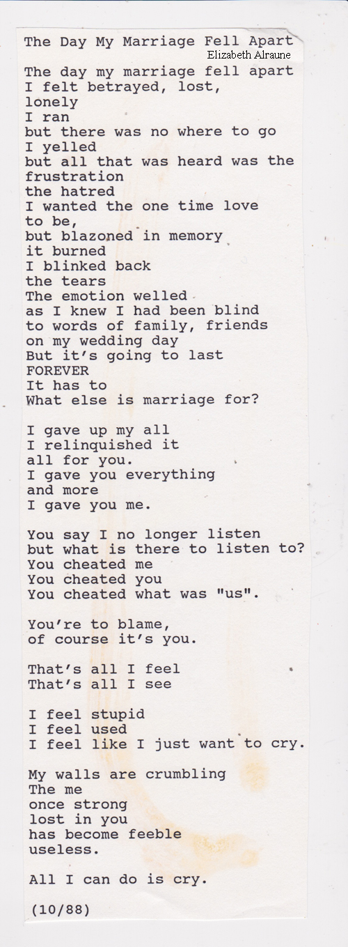 the end of a relationship poem