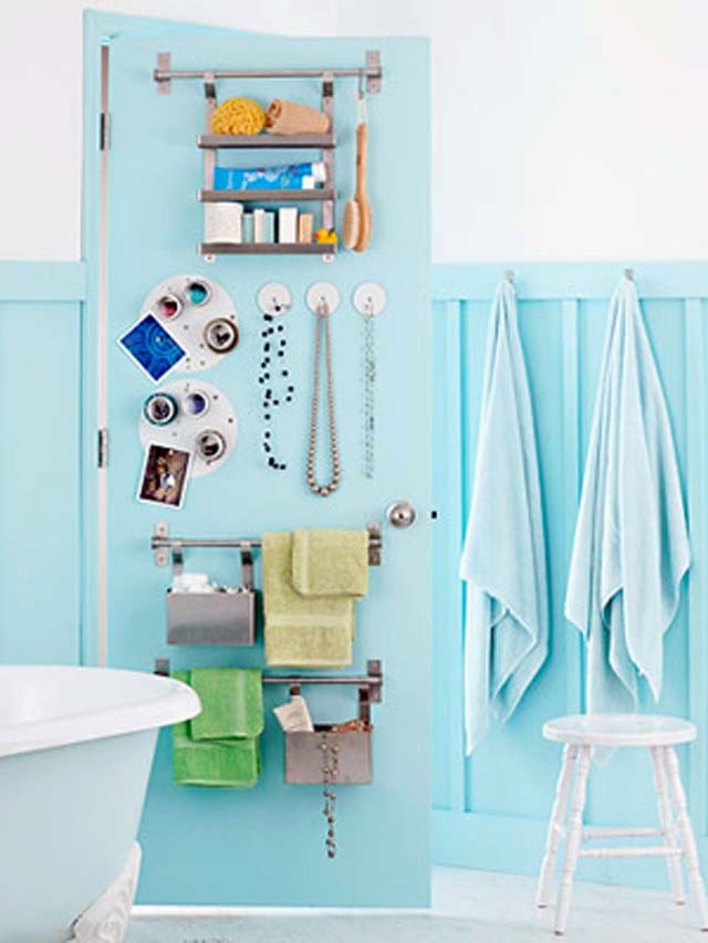 small bathroom towel organization ideas