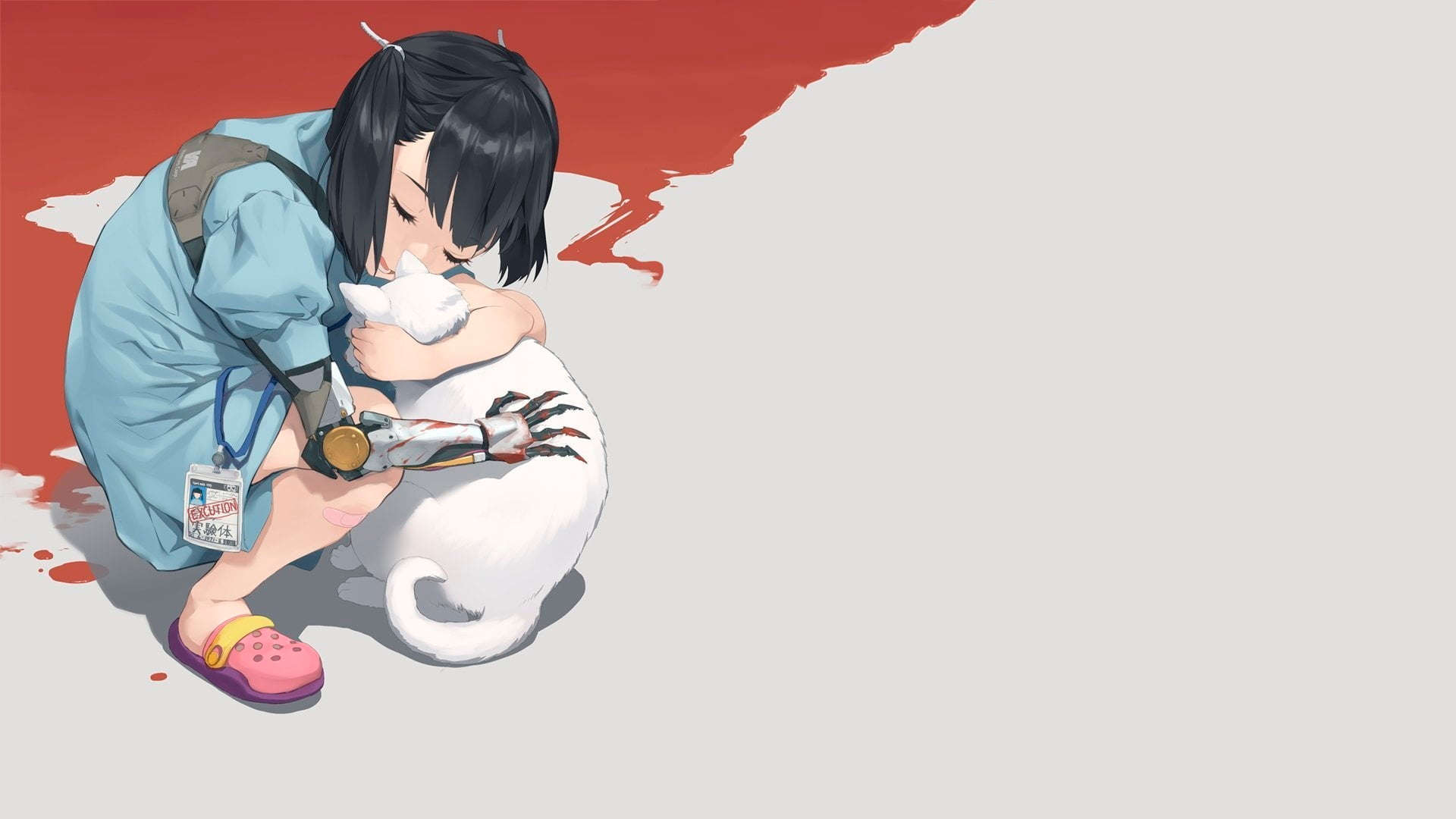 Wallpaper anime berpelukan