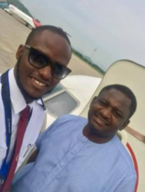 Femi Adeshina's pilot son flies him from Abuja to Lagos