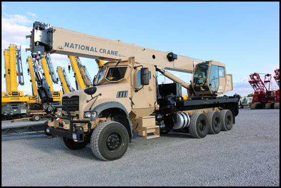 Mack Defense 40T All-Terrain Crane