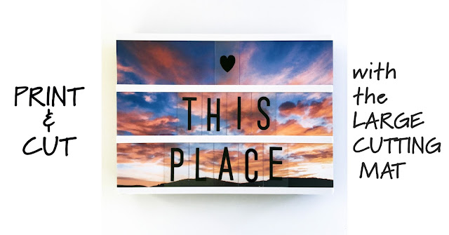 Use Print & Cut and the large Silhouette Cutting Mat to make custom photo panels for your light box. Designed by Janet Packer (Crafting Quine) for the Silhouette UK Blog for