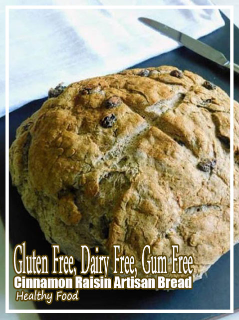 Gluten Free Cinnamon Raisin Artisan Bread {Dairy Free and Gum Free} Recipes